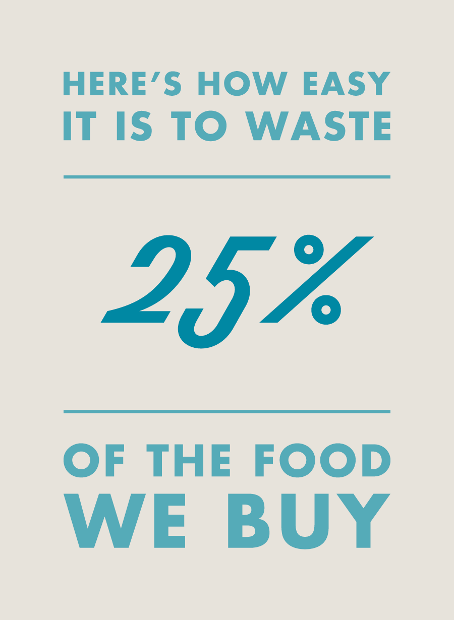 Here's how easy it is to waste 25% of the food we buy